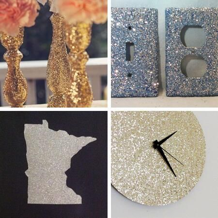 glitter home decor crafts diy sparkles glitter