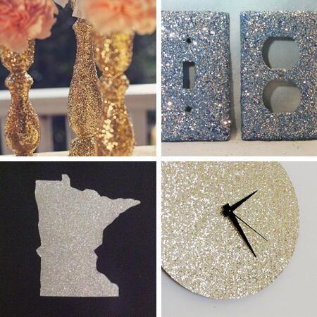 Glitter Home Decor Crafts Diy Sparkles Glitter Robertscrafts