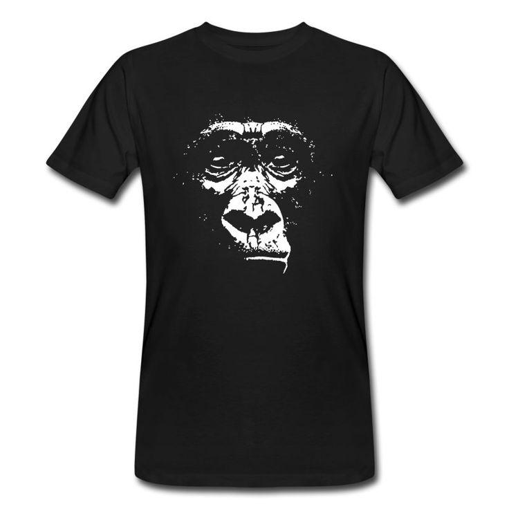 Gorilla Gesicht, Pixelgrafik für dunkle Shirts. Gut mit Text zu versehen, bzw mit allen möglichen Slogans....Shop: Cats In Love, Kategorie: zu guter letzt...(diverse)