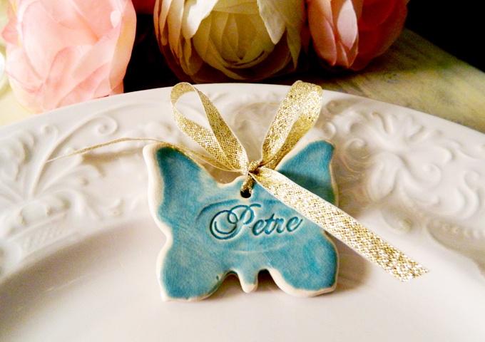 marturie Blue Butterfly de myweddingstory pe Breslo
