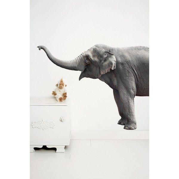 KEK Amsterdam Safari Friends Elephant XL muursticker. Zo blij als een kind is deze olifant van @kekamsterdam dat hij in je (kinder)kamer mag verblijven. #muurstickers #kinderkamer #slaapkamer #design #Flinders