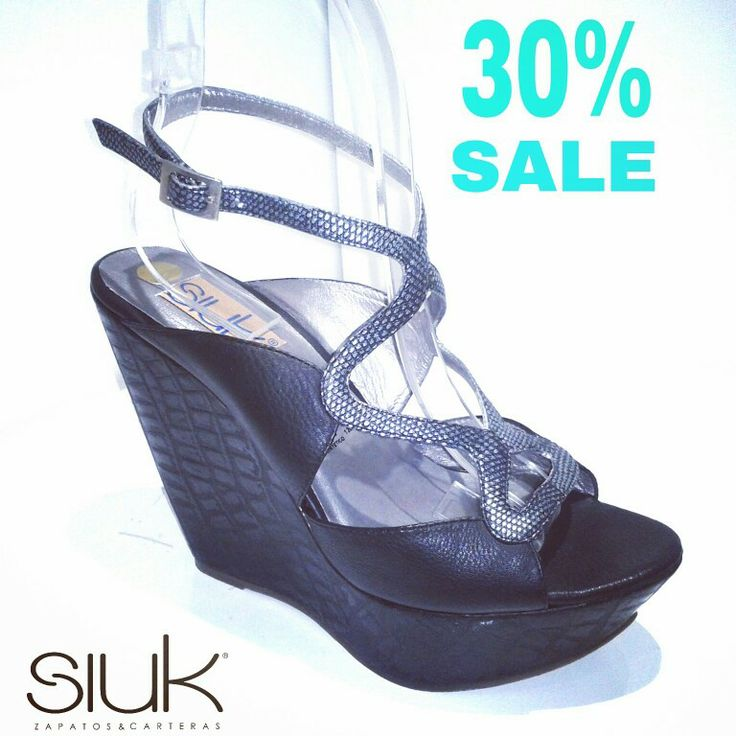 Wedges negras We ♥ Siuk