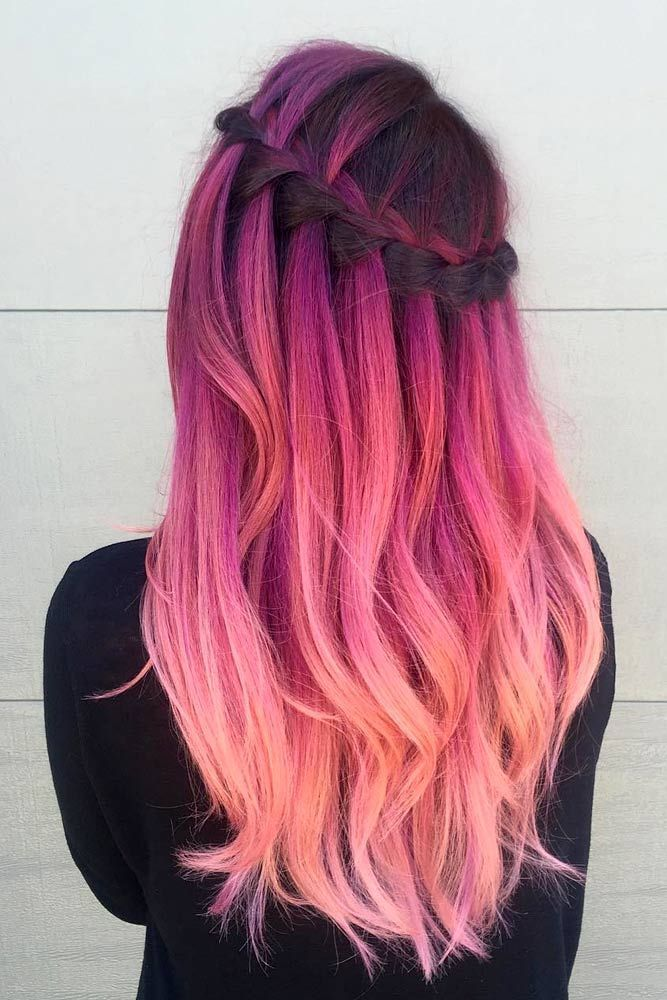 Haare pink farben beim friseur