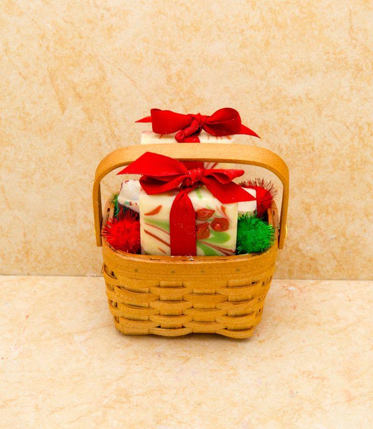 Christmas Gift #EtsyGifts Organic Gift Basket Small Gift Basket Christmas Soap Custom Gift Basket by UptownGirlSoap on Etsy
