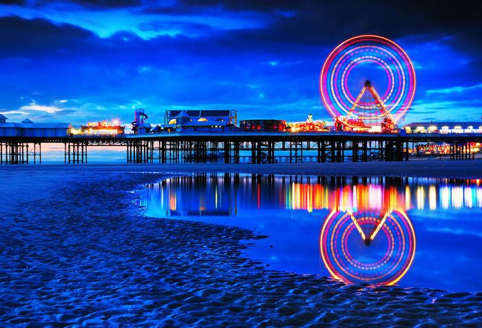 Blackpool - where we spent our first wedding anniversary :)
