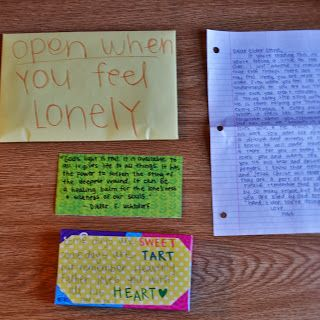 the girl from sycamore lane: Open When Missionary Letters