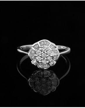 Δαχτυλίδι γάμου λευκόχρυσο με Διαμάντια