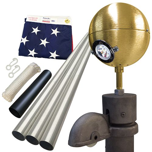 Residential Beacon Deluxe Package #FlagCo #FlagpoleBeacon #FlagpoleLighting
