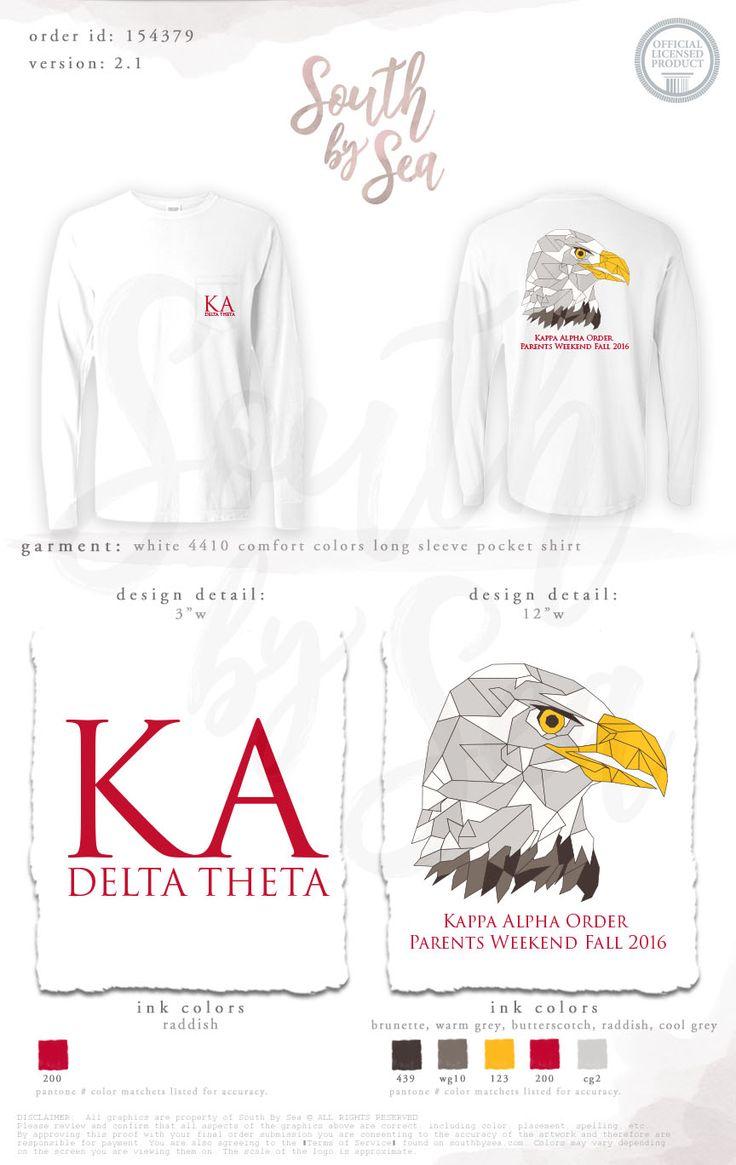 Epic Kappa Alpha Delta Theta Parents Weekend Family Weekend Eagle DEsign Geometric
