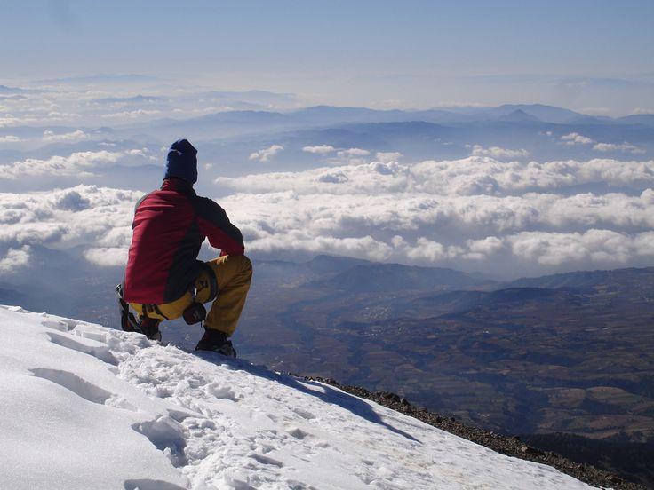 Vista desde el Pico de Orizaba, Veracruz