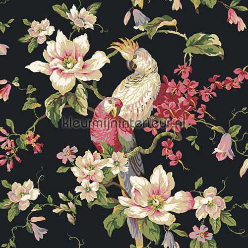 Tropische vogel met magnolia`s 322317 | wallcovering Lavender Dream Eijffinger | kleurmijninterieur.nl