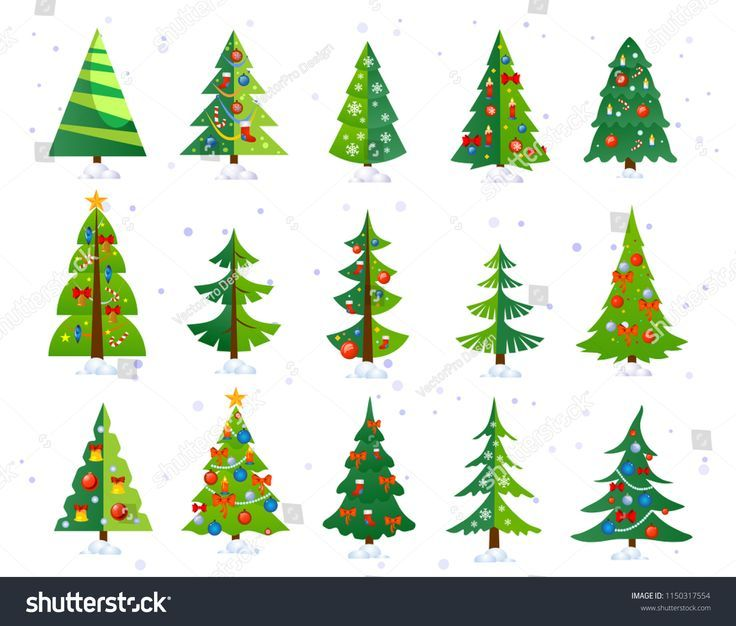 Christmas Trees Icon Set Isolated On White Backgro Background Christmas Classpintag Cute Decorations Explo Cute Christmas Tree Tree Icon White Background