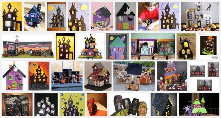 Halloween verlicht huis is leuk om te knutselen in de herfstmaand oktober. Je brengt de Halloweensfeer in een hoek van de kamer of in een klaslokaal.