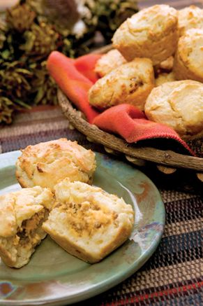 Cornmeal Breakfast Biscuits on PaulaDeen.com