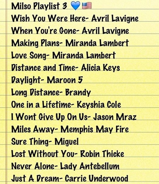 MilSo songs...I have some of these already but I think I'll be making a new playlist.