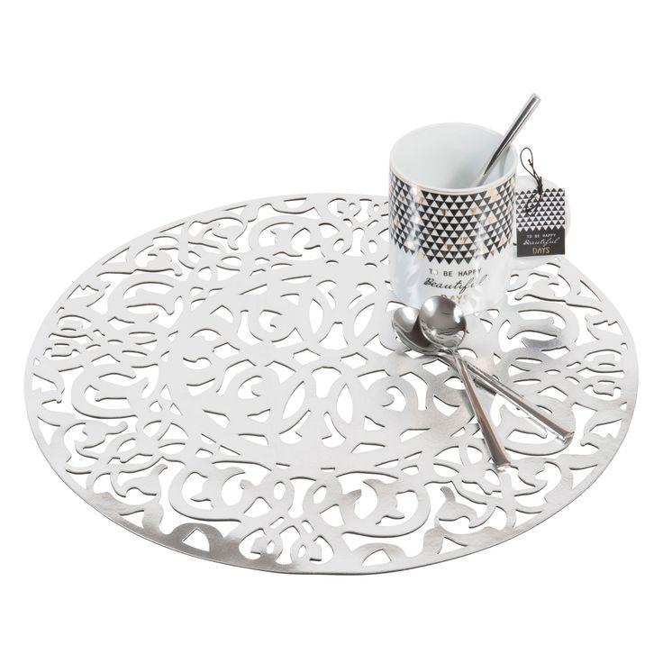 Set de table ajouré rond argent D 38 cm LASALLE   Maisons du Monde