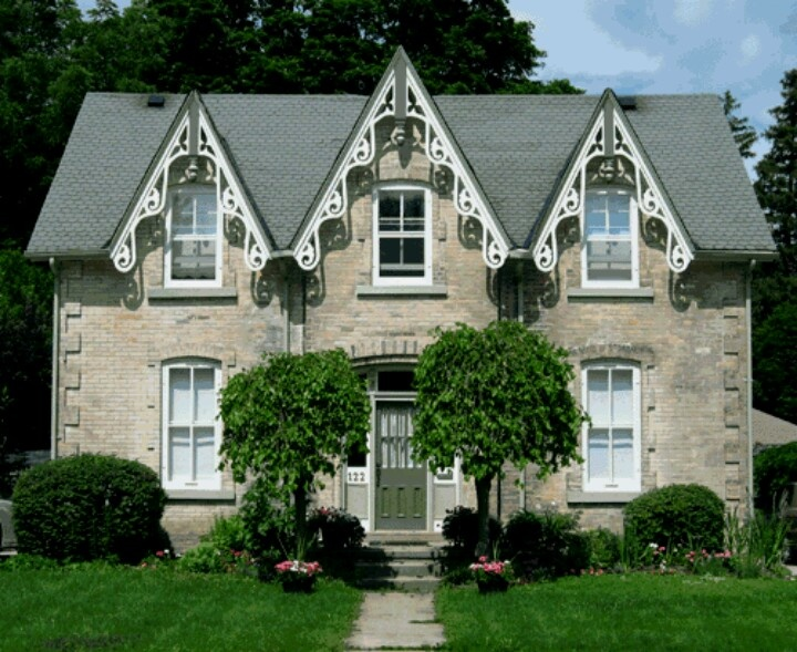 26 best images about exterior gothic revival on for Gothic revival house