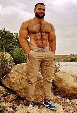 Hairy dominate men