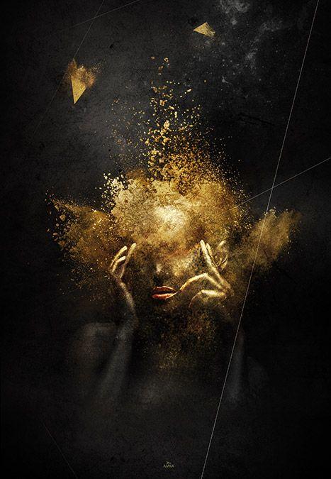Poster affiche et tableau réalisé par LATIBER - Golden diva