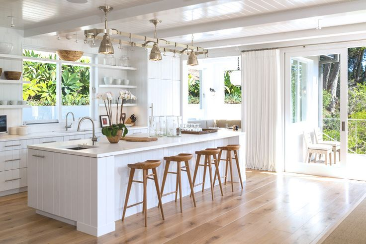 Newly installed, wide-plank French oak floors flow throughout most of Cindy Crawford's recently remodeled home - including new appliances and fixtures.