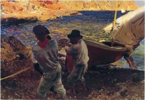 End of the Day, Javea - Joaquín Sorolla - 1900