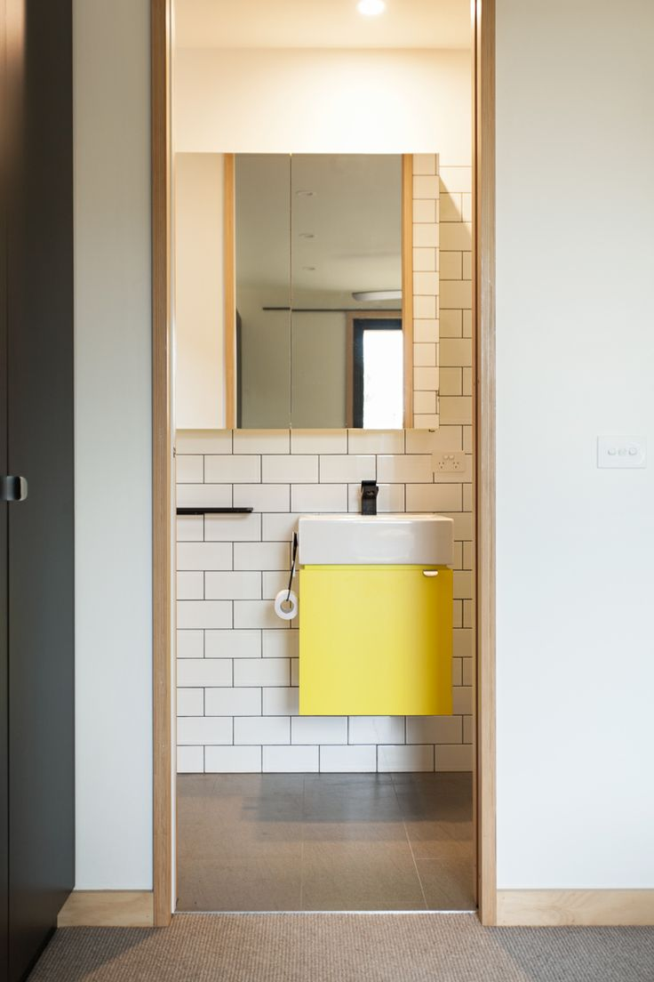Bathroom Ensuite | Splash of yellow