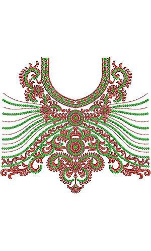 Designer Fashion Kurti Choli Embroidery Design