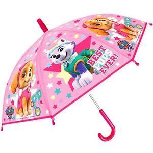 a paraguas oficial paw patrol de alta calidad de material pvc facil sosteniendo ninos childre