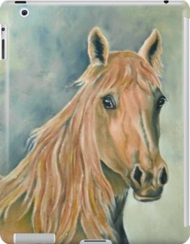 iPad Case/Skin,  unique,cool,fancy,beautiful,trendy,artistic,awesome,unusual,fashionable,accessories,gifts,presents,ideas,design,items,products,for sale,earthly colors,horse,equine,portrait,redbubble