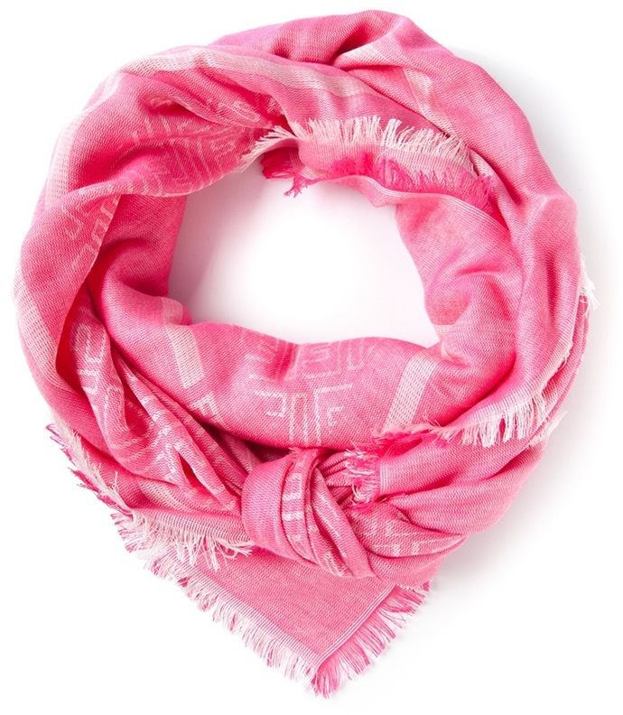 Fendi geometric pattern scarf on shopstyle.com