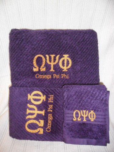 Omega Psi Phi towels
