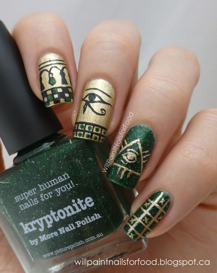 Will Paint Nails for Food: Glaucoma Awareness Manicure