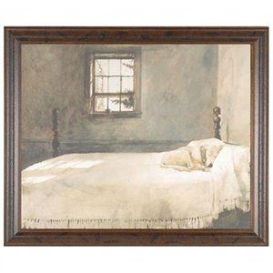 master bedroom andrew wyeth 25x21 dog bed gallery quality framed print