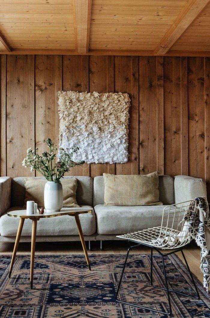 Die besten 25+ Holzwand wohnzimmer Ideen auf Pinterest Holzwand - wohnzimmer modern rustikal
