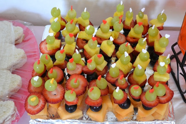 Mini Fruit Kabobs On Toothpicks Pajama Playscape Party