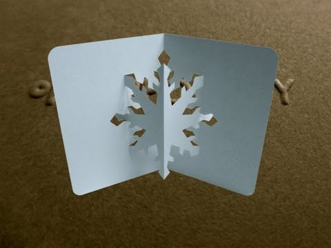 Pop Up Snowflake Card Tutorial - Origamic Architecture - YouTube