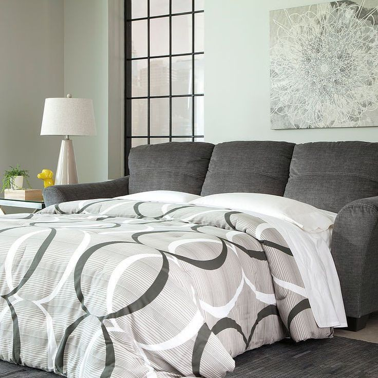 That Furniture Outlet - Minnesota's #1 Furniture Outlet. We have exceptionally low everyday prices in a very relaxed shopping atmosphere. Ashley Braxlin Charcoal Sofa Chaise Sleeper thatfurnitureoutlet.com #thatfurnitureoutlet  #thatfurniture  High Quality. Terrific Selection. Exceptional Prices.