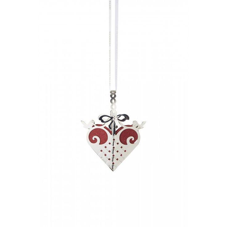 Heart mobile, Sterling silver