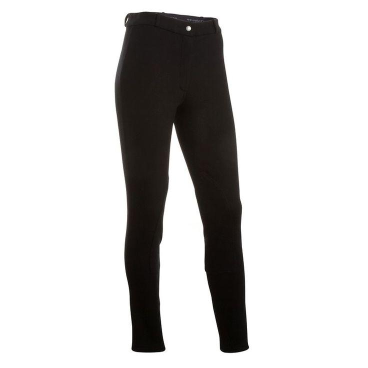 Nero delle Donne Culatte Pantaloni Da Equitazione Equestre equitazione Pantaloni Attivo resistente resistente