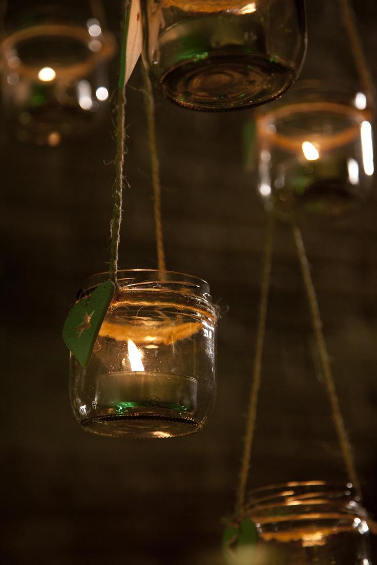 Detalle iluminación con velas