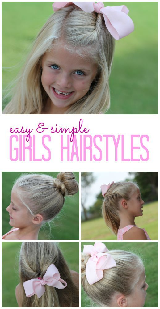 Simple and easy hairstyles for straight hair : Best 25 Easy girl hairstyles ideas on Pinterest kid