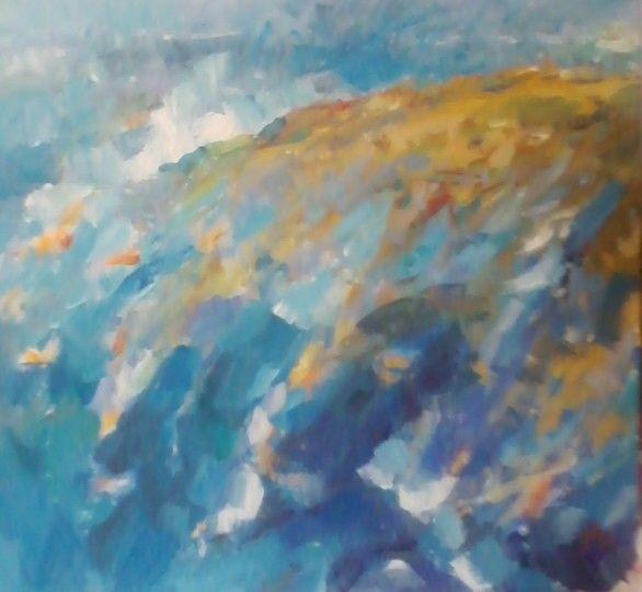 Il Mare 2, acrylic on canvas, 45/50cm, 2014 - Dan Streja