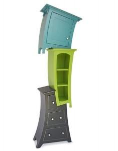 Ασυνήθιστες Βιβλιοθήκες με καμπύλες, ξύλινες για παιδικό δωμάτιο και υπνοδωμάτιο | Small Things