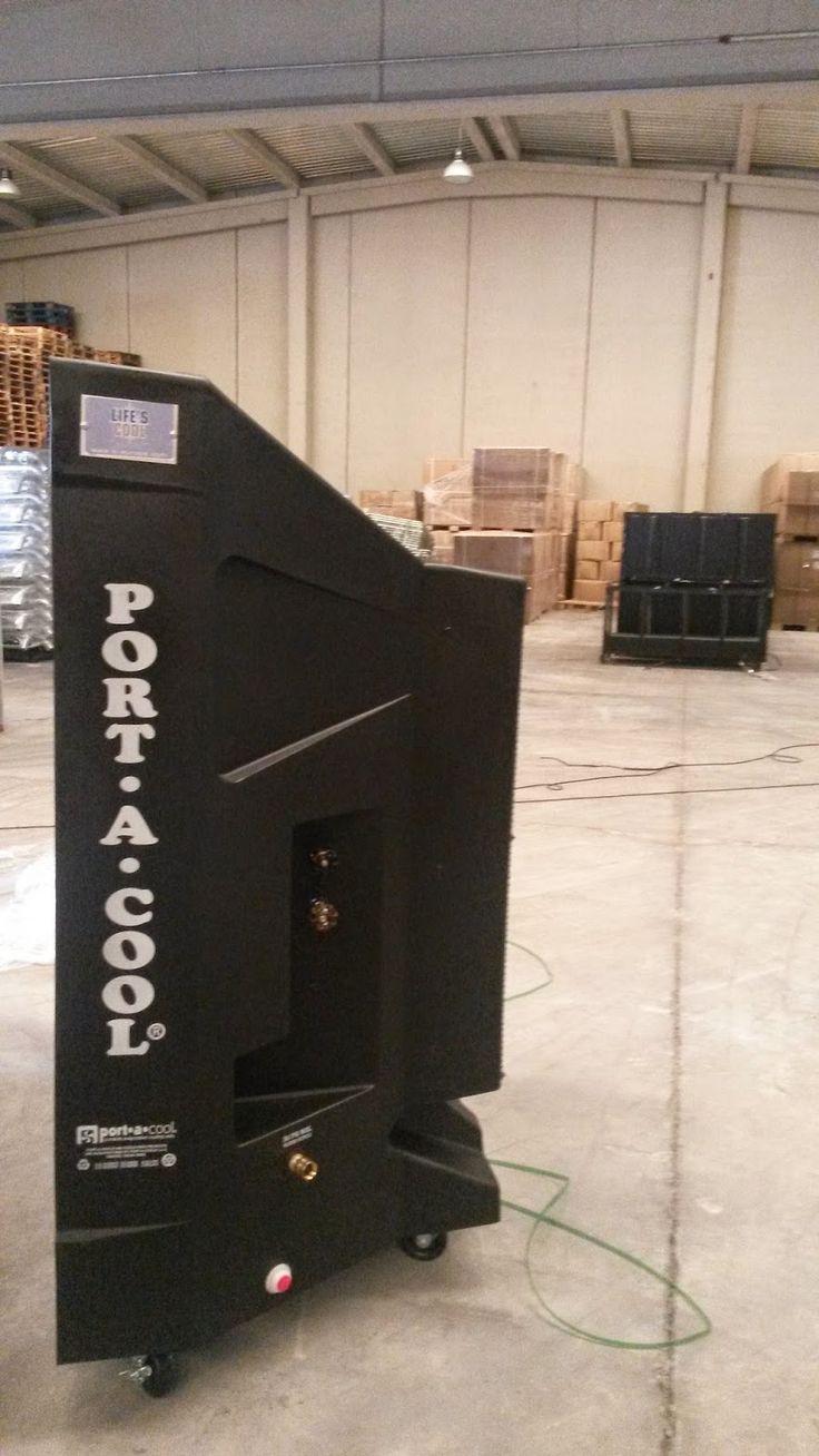 Enfriador Evaporativo - Port-A-Cool: Bajar temperatura nave industrial