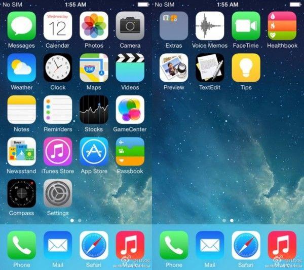 Filtración de imágen de #iOS 8 revela nuevas aplicaciones