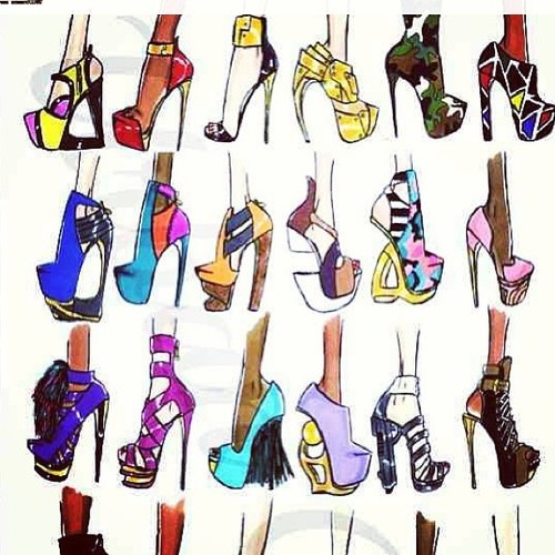 Fashion Sketches Shoes