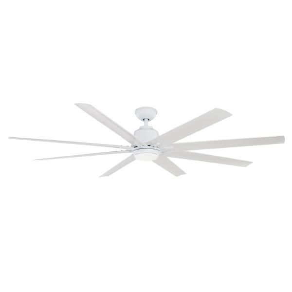 Home Decorators Collection Kensgrove 72 In Led Indoor White Ceiling Fan With Light Kit Works With Google Assistant And Alexa Yg493od Wh The Home Depot Fan Light Ceiling Fan With Light White