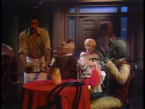 Bartender, Richard Pryor, with real costumes from the original Star Wars. No annoying advertisements, to ruin the video content.