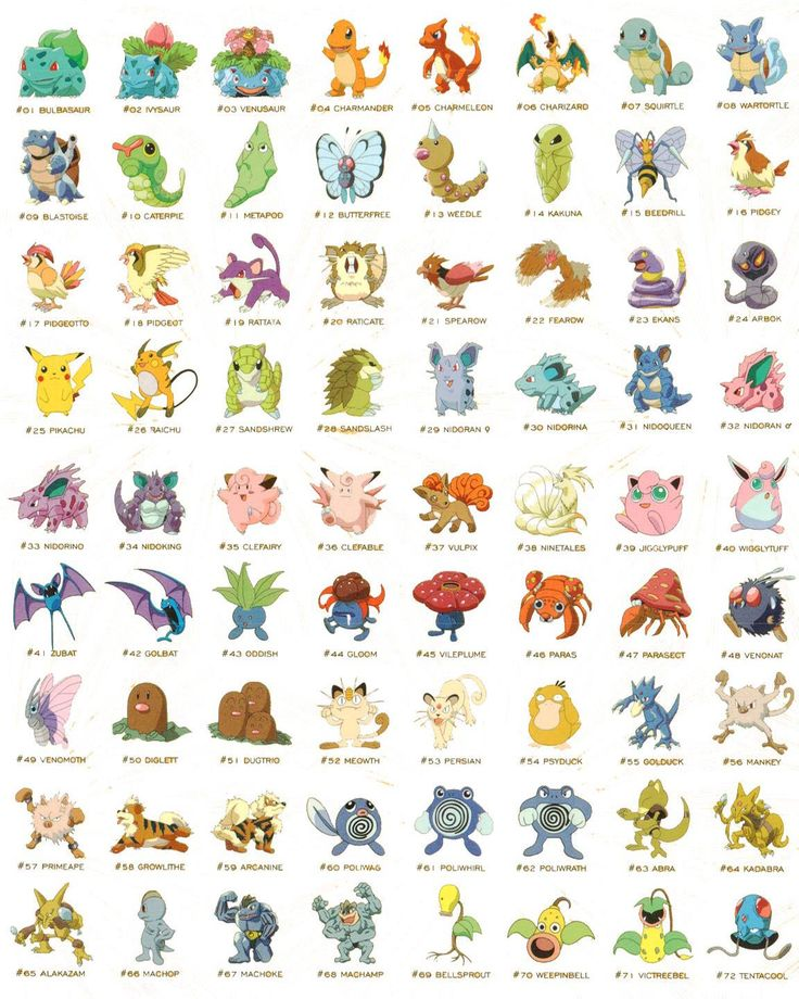 Best 25 list of pokemon names ideas on pinterest colour list colours and their names and - Pokemon ferosinge ...