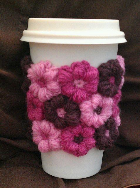 Ravelry: crazycandigirl's Mollie Flower coffee cup cuff